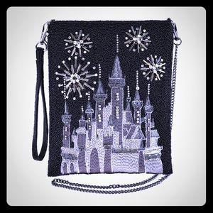 Mary Frances Sky Black Disney Princess Castle bag